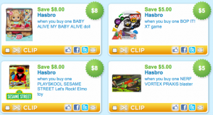 Nerf and other toy coupons