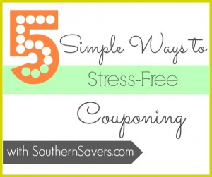 Does the thought of coupons stress you out?  Check out these 5 tips to get you on your way to saving money with stress free couponing.
