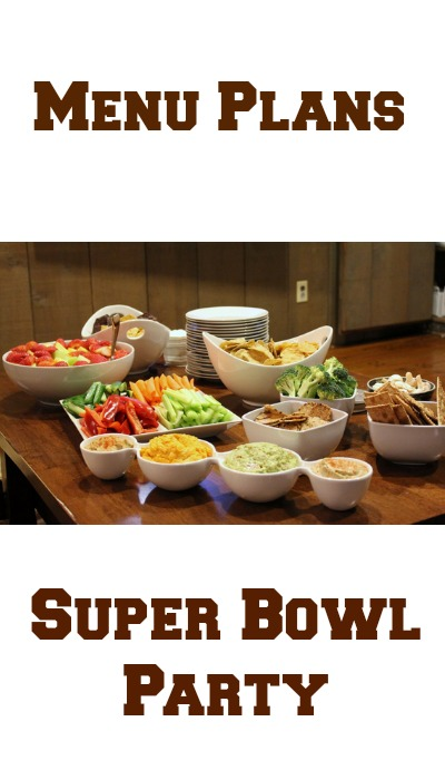 menu plans super bowl party
