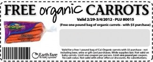 EarthFare Carrot Coupon