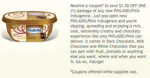 Philadelphia Indulgence Coupon