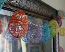 Embroidered Floss Garland