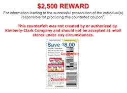 Fraudulent Huggies Coupon