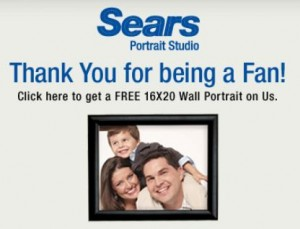 Sears free portrait