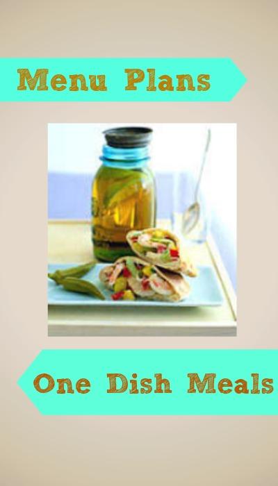 one dish meals menu plan
