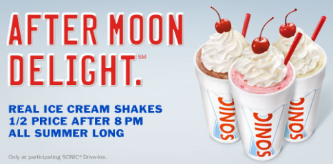 Bi Lo Stores >> Sonic Summer Deal: Half-Priced Real Ice Cream Shakes after ...