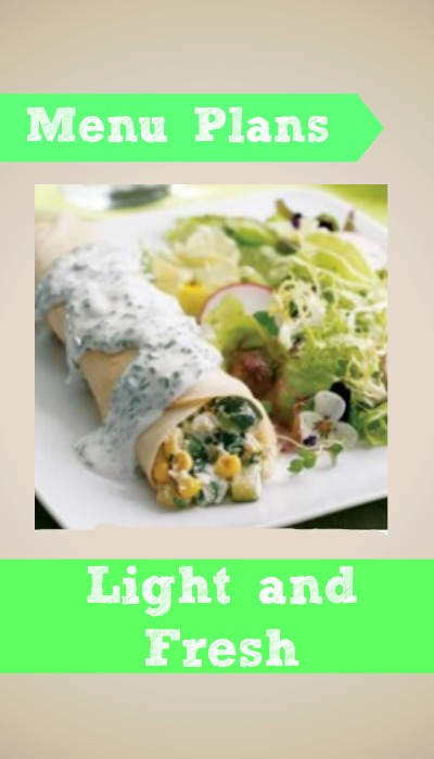 weight watcher menu plan light and fresh