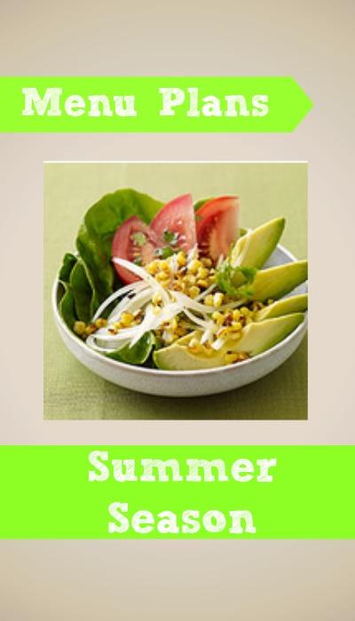 weight watchers menu plan summer season