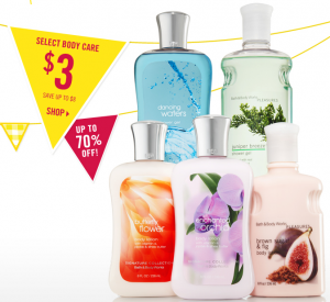 Bath & Body works sale