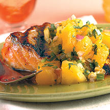 Grilled Salmon with Mango Salsa