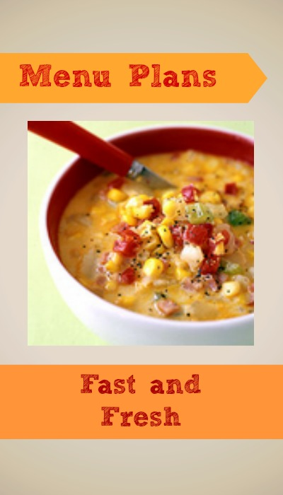 weight watchers menu plan fast and fresh