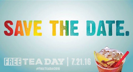 free sweat tea day