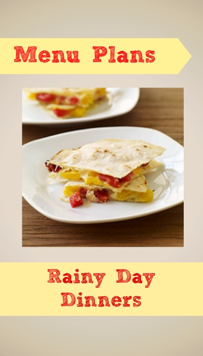 weight watchers menu plan rainy day deals