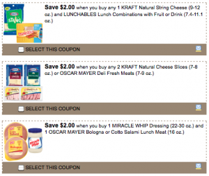 High Value Kraft Coupons