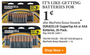 Maxperks Rewards Battery Deal