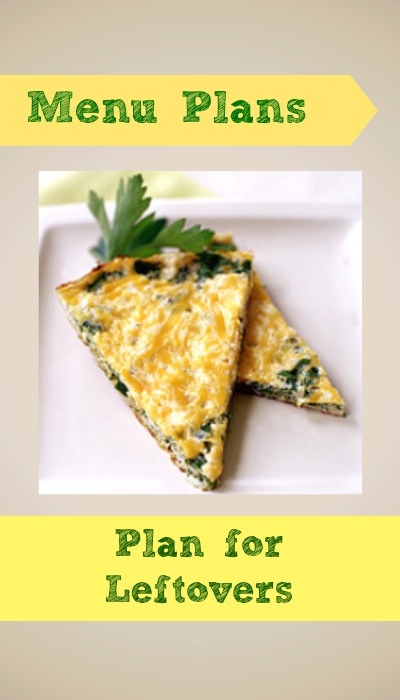 weight watchers menu plan, plan for leftovers