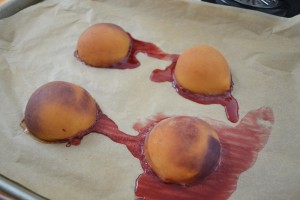 Baking Peaches for Baby Food