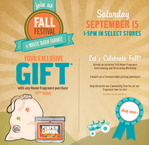 Bath and Body Works Fall Festival