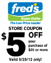 fred printable coupon