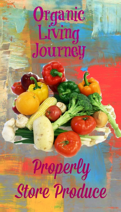 organic living journey how to properly store produce