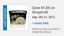 Kroger Cartbuster Coupon $1.50 off Breyers