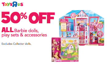Toys R Us 50 Off All Barbie Dolls Amp Accessories