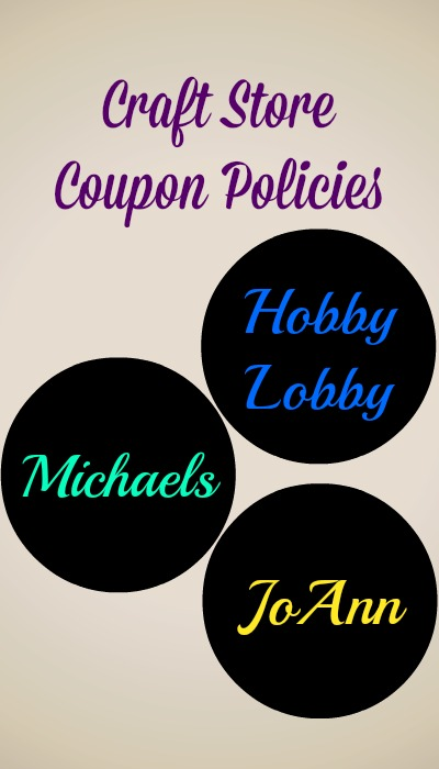 craft coupon store policies