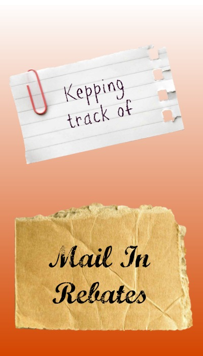 keeping track of mail in rebates