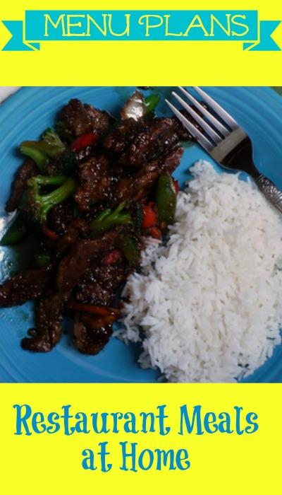 weight watchers menu plans restaurant meals at home