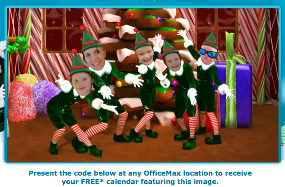 OfficeMax Free Elf Yourself Calendar