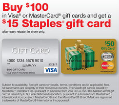 Staples Easy Rebate Deal