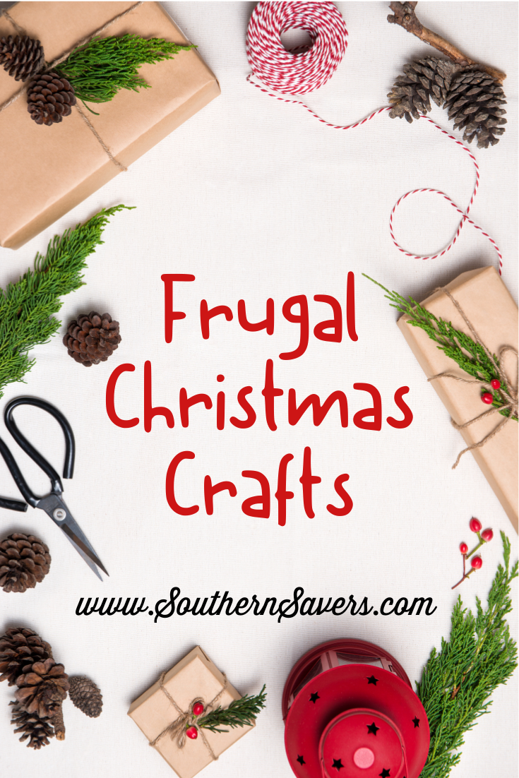 Frugal Christmas crafts are a great way to decorate your home on a budget as well as provide fun activities for chill winter days.