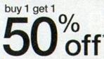 B1G1 50 Percent Off