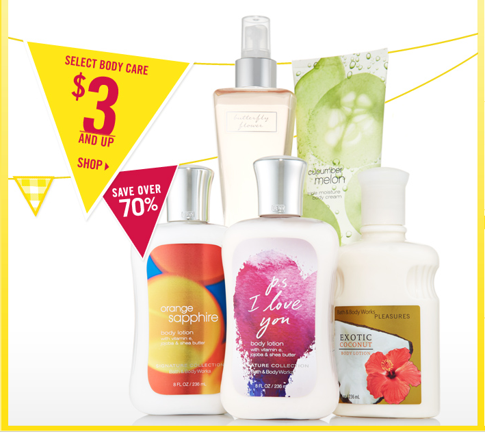 Bath and Body Works $10 off $40 and 75% off :: Southern Savers