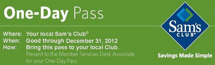 Is there a Free Sam's Club Trial Membership? Or Day Pass?