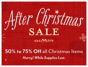 DaySpring is having a great after Christmas sale! You can get things for up to 75% off.