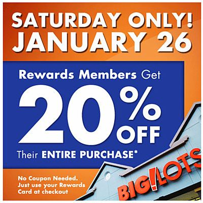 big lots coupon big lots rewards members 20 entire purchase 10103