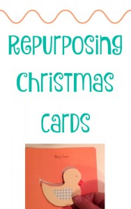 Repurposing Christmas Cards