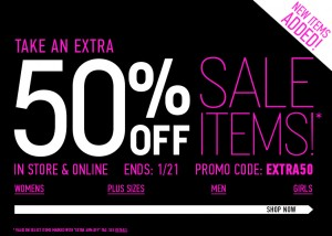 graphic relating to Forever 21 Printable Coupons called Permanently 21: Further 50% off Sale Goods :: Southern Savers