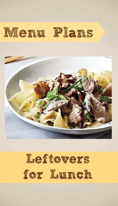 weight watchers menu plan leftovers for lunch