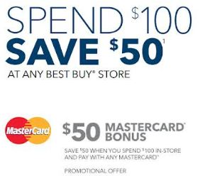 Mastercard 50 Off Best Buy Purchase Of 100 Or More Southern Savers