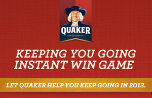 graphic relating to Quaker Printable Coupons named Quaker Prompt Acquire Video game Fresh Printable Coupon :: Southern