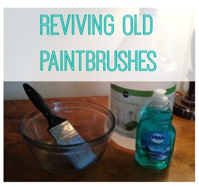 How to fix old, dirty paintbrushes.