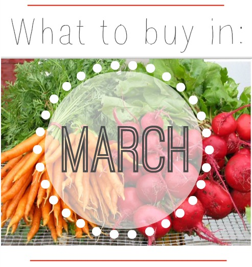Grocery trends for March vegetable and produce sales.