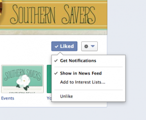 Southern Savers Facebook