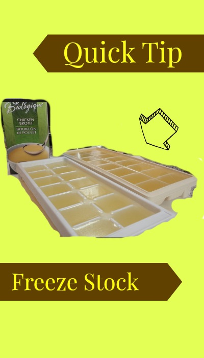 quick tip freeze stock and pesto in ice cube trays