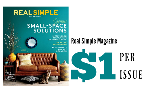 Real Simple Coupons Follow. Shop Now All Coupons Deals 74% Off Cover Price Subscription for Real Simple Magazine for Three Years Snap up this amazing deal & get 74% Off Cover Price Subscription for Real Simple Magazine for Three Years. Click on this great deal and avail an amazing discount. Add comment. Terms & Conditions.