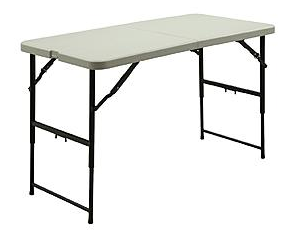 Kmart Is Offering A Northwest Territory Fold In Half Adjustable Height Table,  48 In For $19.99, Regularly $39.99.