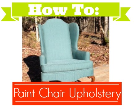 How to paint chair upholstery.  DIY chair upholstery.
