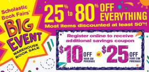 Scholastic Warehouse Book Sale 2013
